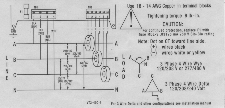 three phase energy meter wiring diagram